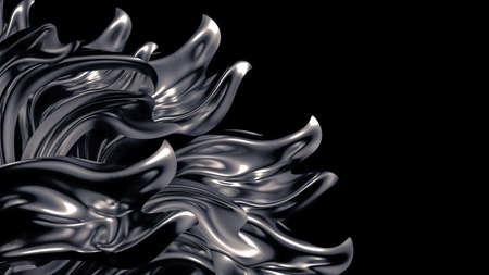 Luxury gray background. 3d illustration, 3d rendering. Banco de Imagens - 133766975