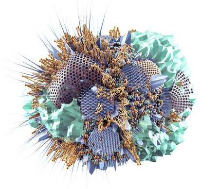 The abstract form. 3d rendering 3d illustration. 版權商用圖片