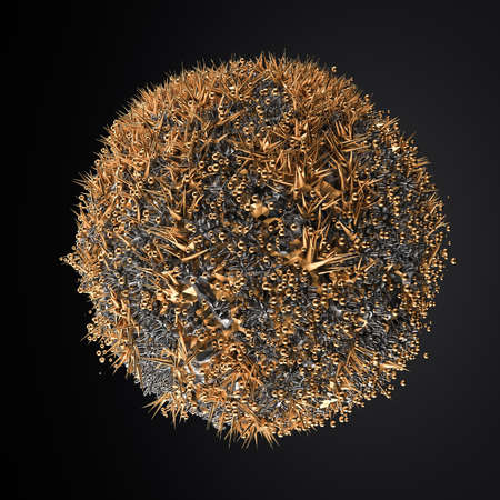 Abstract balloon particle. 3d rendering 3d illustration.