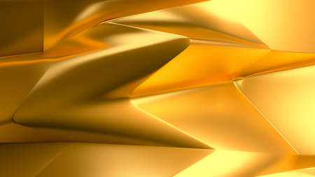 Golden smooth background. 3d rendering 3d illustration.