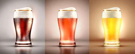 A glass of beer. 3d rendering, 3d illustration.