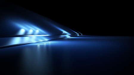 Fantastic background with spotlights.3d rendering, 3d illustration. 版權商用圖片