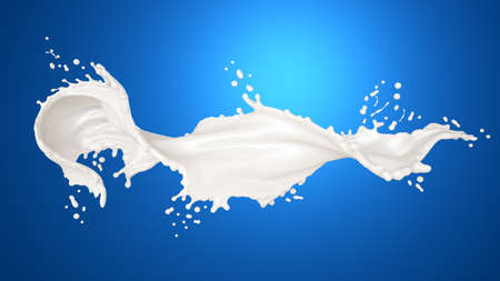Splash of milk. 3d rendering, 3d illustration. Stock fotó