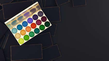 Eyeshadow. 3d rendering, 3d illustration. Make up Make-up