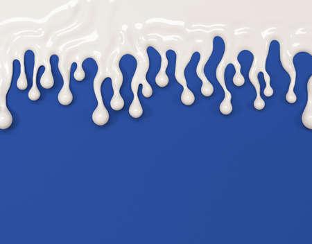 Beautiful milk background. 3d rendering, 3d illustration. Stock fotó