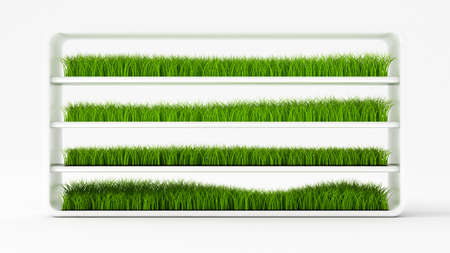 Grass abstract background. 3d rendering, 3d illustration. 스톡 콘텐츠