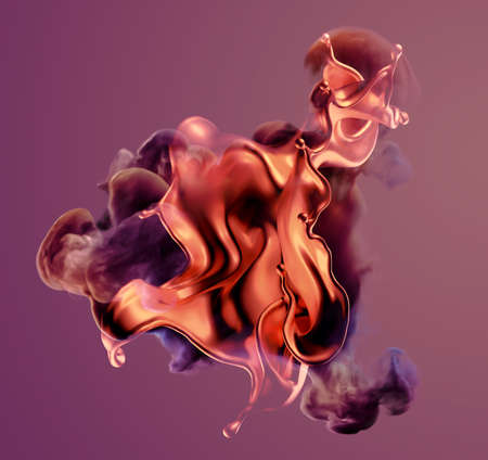 Colorful smoke.3d rendering 3d illustration