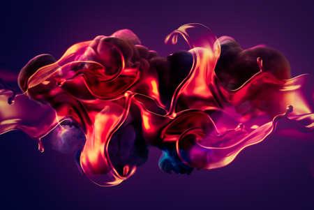 Illustration 3d de rendu smoke.3d coloré Banque d'images