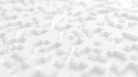 Abstract white city background. 3d rendering, 3d illustration. 스톡 콘텐츠