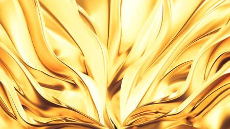 Beautiful, luxurious, luxury golden background. 3d rendering 3d illustration