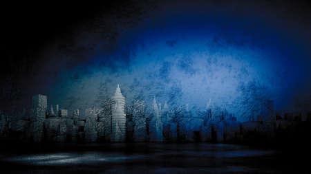 Industrial grunge background studio interior. 3d rendering, 3d illustration. Zdjęcie Seryjne