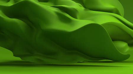 Green background with growing tissue.3d rendering, 3d illustration.