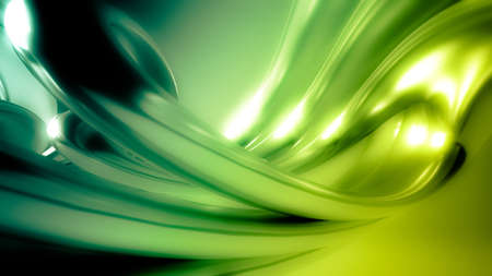 Beautiful green seamless background with three-dimensional shapes and waves.3d rendering, 3d illustration.