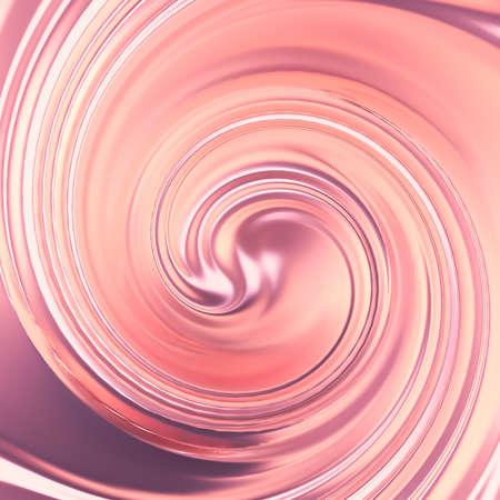 Luxury beautiful splash of flow of pink gold. 3d rendering, 3d illustration.