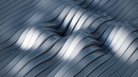 Gray background with lines. 3d rendering, 3d illustration.