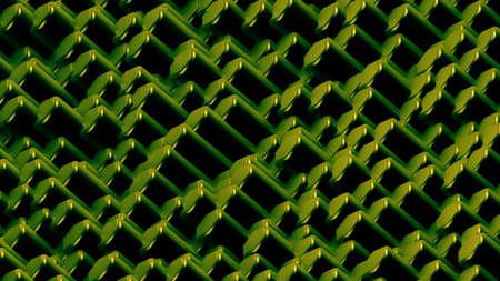 Green hexagon background. 3d rendering, 3d illustration.