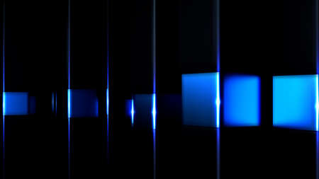 Fantastic abstract background with black and blue geometric shapes.  3d rendering, 3d illustration.