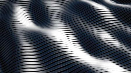Black background with lines. 3d rendering, 3d illustration.