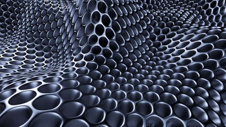 Metallic black background. 3d rendering, 3d illustration.