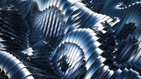 Blue black background with lines. 3d rendering, 3d illustration. Stock fotó