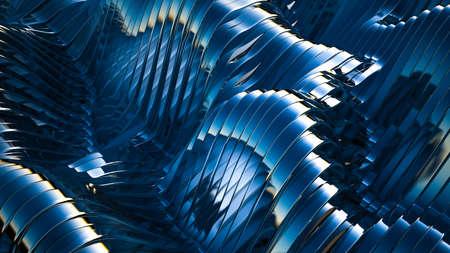 Blue background with lines. 3d rendering, 3d illustration.