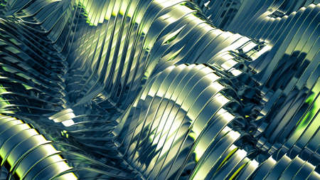 Green background with lines. 3d rendering, 3d illustration. Stock fotó