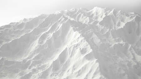 White background with relief and mountains. 3d rendering, 3d illustration. Stock fotó