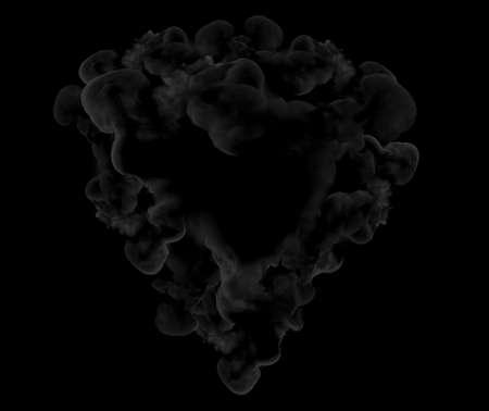 Gray smoke on a black background. 3d rendering, 3d illustration. Banque d'images