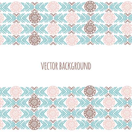 INDIAN CULTURE American Native Thanksgiving Folk Ethnic Backdrop Vector Illustration for Print Fabric and Decoration Ilustración de vector