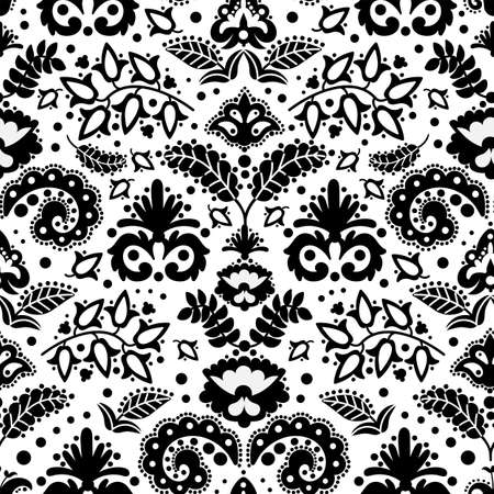 ETHNIC TATAR ORNAMENT Oriental Doodle Folk Seamless Pattern Vector Illustration for Print Fabric and Digital Paper