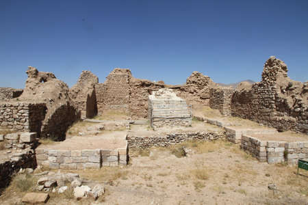 Takht-e Soleymān, is an archaeological site in West Azarbaijan, Iran from Sasanian Empire. It lies midway between Urmia and Hamadan, very near the present-day town of Takab