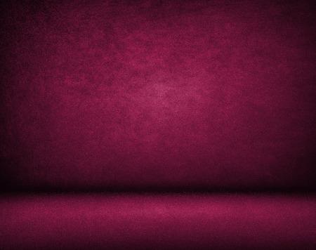 Purple background, Studio wall and floor Archivio Fotografico