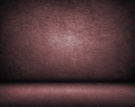 Chocolate brown and maroon studio background, wall texture and floor space for model