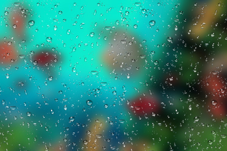 Rain droplets on mirror, Water drops on Glass