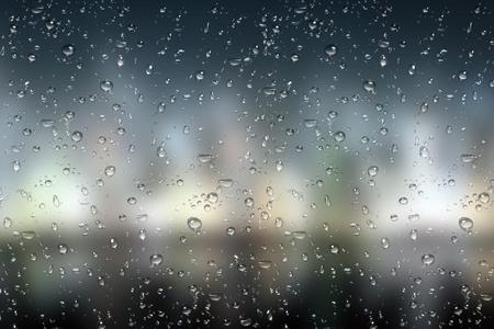 Beautiful rainy day, Rain droplet on mirror