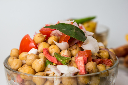 Chola Masala or Spicy Chickpeas, Chana Chaat