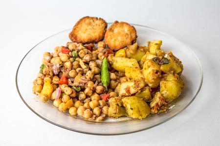 Ramadan Iftar, Chola Chana Chaat, Bowl of Chickpeas curry or Chola masala