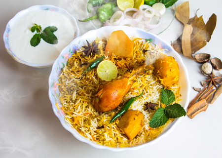 Indian traditional biryani rice, Spicy food