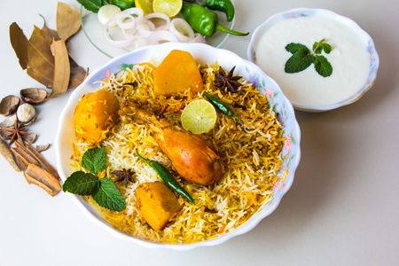 Indian traditional biryani rice, Pakistani Spicy food