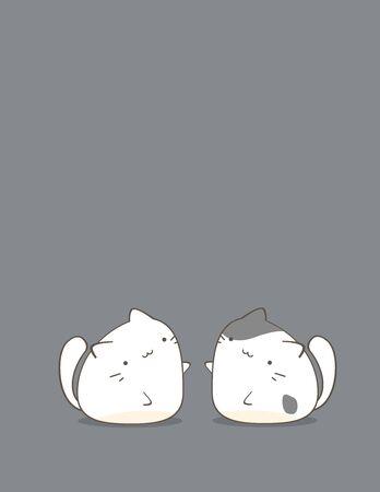 the pair: Cute pair of cats cartoon