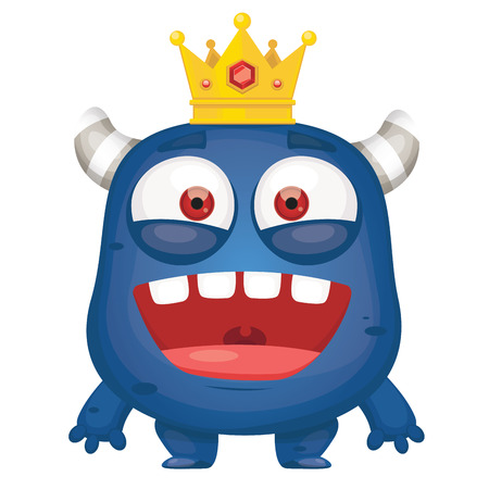 King Monster Cartoon Illustration