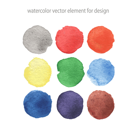 green paint: Colorful vector isolated watercolor paint circles. Illustration
