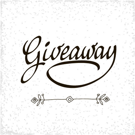 choise: Giveaway for social media contests and special offer. black ink brush lettering at white background. Modern calligraphy style.