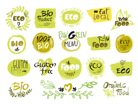 relate: Set of hand drawn sketch which relate with ecology and nature. Vector illustration for designers. Collection. Illustration