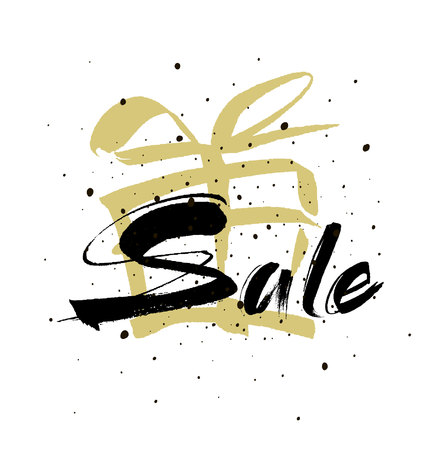 Sale. Drawn lettering. Sale vector typography. Usable for cards and posters, sale banners, billboards and sale signs.