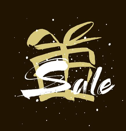 Sale. Drawn lettering. Sale  typography. Usable for cards and posters, sale banners, billboards and sale signs.