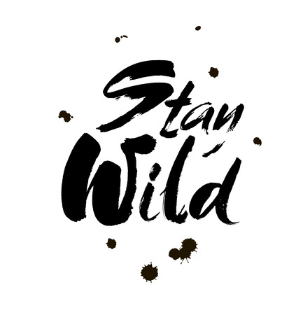 Stay wild hand written lettering vector Illustration