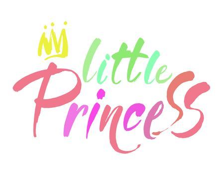 Little princess modern hand lettering. Vector color brush calligraphy quote. Modern calligraphy.