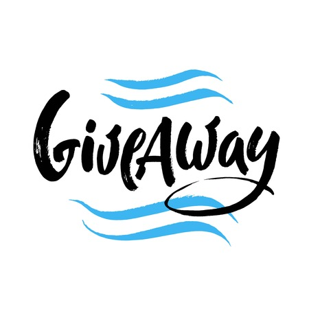 Giveaway vector lettering illustration with Hand drawn phrase.