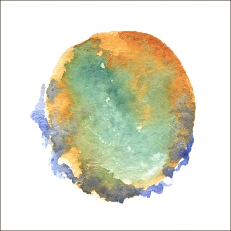 Abstract watercolor art hand paint isolated on white background. Vector